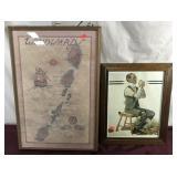 Vintage Artwork/print, Caribbean Sea, Signed