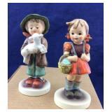 Boy & Girl W Germany Hummel Statues