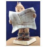 Hummel Germany Little Boy Reading Paper
