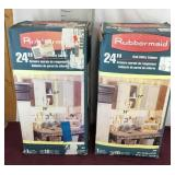 NIB Two Rubbermaid 24 inch Wall Utility Cabinet