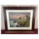 Framed Signed Lighthouse Print Artwork