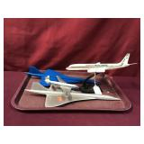 Three Metal And A Plastic Plane Model- Emery