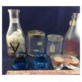 Two Milk Bottles With WWII Themes, Glass H
