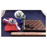 Richard Petty Signed Cap, Colts Helmet, Checker