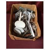Box Filled With Assorted Doll Stands