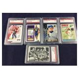 Five Graded Cards- 4 Sports, 1- The Beatles