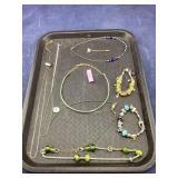 Tray of Pandora-Type Jewelry & More