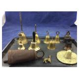 Tray of Brass & Other Bells