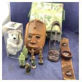 Datona Bear & Oriental Men & Wood Wall Masks +