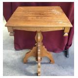 Vintage Maple Lamp Table, Very Ornate