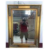Gorgeous Gold Embellished Beveled Mirror