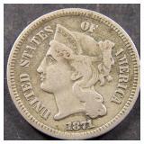 1871 Three Cent Nickel