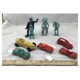 Vintage Plastic Toy Cars & Figurines