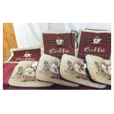 Six Seat Cushions, Placemats, Table Cloth