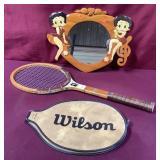 Vintage Chris Evert Tennis Racquet + Betty Boop
