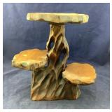 Short 3 Tiered Wooden Plant Stand
