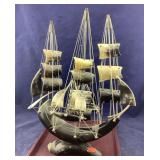 Vintage Horn Ship With Sails