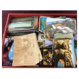 Box Filled with Various Unused Postcards