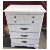 Vintage Painted Chest of Drawers, Four Drawer