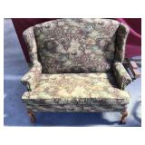 Gorgeous Love Seat Geographical Fabric Design