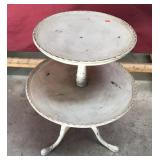 Vintage Two-tier Table Painted