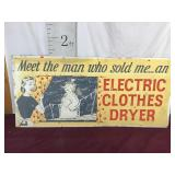Vintage Advertising Sign, Dryer and Frosty the