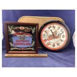 Orioles & Mirrored Brown & Polson Battery Clocks