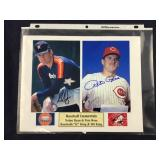 Nolan Ryan And Pete Rose Signed 8 X 10 Matted