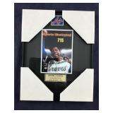 Hank Aaron Signed 8 X 10 Framed Photo With COA