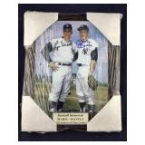 Roger Maris & Mickey Mantle Signed 11 X 14