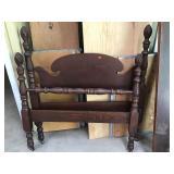 Vintage Twin Bed Acorn Design