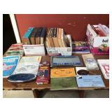 assorted vintage car repair books, owners manuals