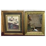 Vintage Gold Gilded Mirror, Artwork/Print