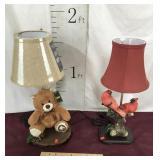 New Offa Bear Lamp, Cardinal Lamp