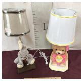 New Hallmark Love You Mom Lamp, Bunny Lamp