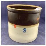 Brown & White 2 Gallon Crock
