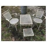 Vintage Metal Outdoor Tables And Chairs