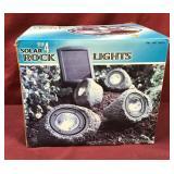 Set Of Four Solar Rock Lights