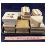 Tray With Ten Assorted Small Wood Boxes