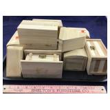 Variety Of Eleven Small Wood Boxes