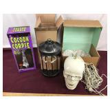 NIB Cocoon Corpse and Skeleton Lantern, Skeleton