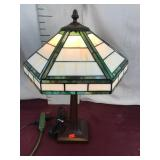 Beautiful Mission Style Stained-Glass Lamp