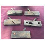 Five Vintage Wooden Block Planes