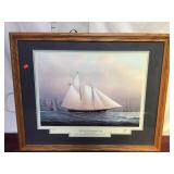 Artwork/print, Yachts of the Americas Cup, Signed