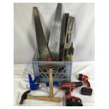 Crate Full of Tools, Hand Saws