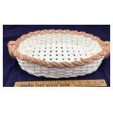 Italian Oval Woven Pottery and Ceramic Carrier