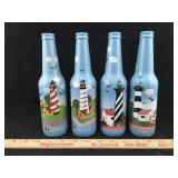 Hand Painted Beer Bottle Set
