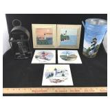 Lot of Lighthouse Decor Items