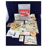Coca-Cola Metal Sales Receipt Keeper + Ephimera