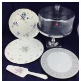 Pedestal Cake Saver and Cake Plate/Server Plus